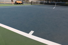 Baseline Of A Tennis Court