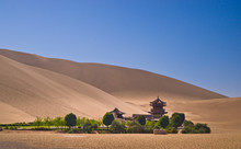 China Monastery In The Dunes N...