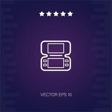 Gameboy Console Vector Icon Mo...