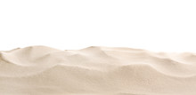 Heap Of Dry Beach Sand On Whit...