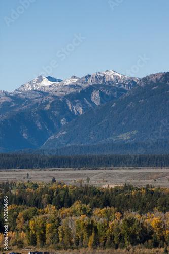 Teton Mountains with snow #372084696