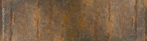 Fotografie, Obraz Grunge rusty dark stone metal background texture banner panorama