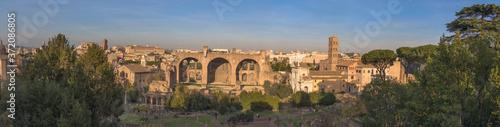 Fotografie, Obraz Views of the Roman Forum, Rome, Italy