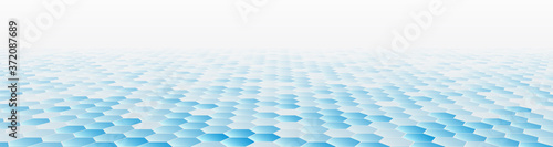Foto Abstract Perspective with hexagons