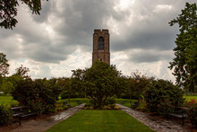 Close Up Image Of The Joseph D. Baker Tower And Carillon That Is Erected In Baker Park, Frederick In Memory Of This Philanthropist. It Is A 70 Foot Granite Tower That Houses 49 Carillon Bells.