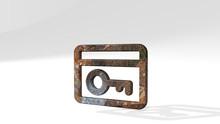 Locker Room Key 3D Icon Standi...