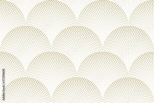 Leinwand Poster Fish scales seamless vector pattern