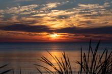 Sunrise Over The Lake Michigan
