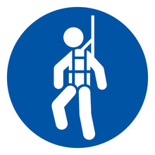 Wear Safety Harness Symbol Sign ,Vector Illustration, Isolate On White Background Label. EPS10