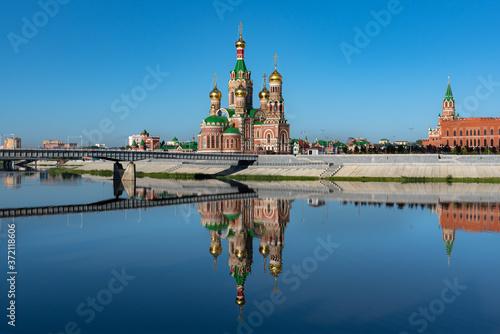 Orthodox cathedral in Yoshkar-Ola city in Russia Fototapet