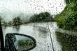 Leinwanddruck Bild - 【雨の日イメージ】車についた雨粒