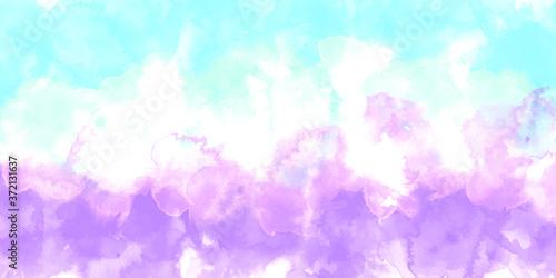 Obraz Purple background watercolor. Purple splash watercolor. Water color backdrop. Purple background watercolor. Abstract Purple splash watercolor on white background. - fototapety do salonu