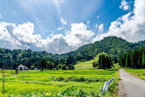 【日本の里山】福島県 会津の風景 Fototapet