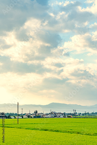 【日本の里山】福島県 会津の風景 Fototapete