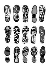 Shoe Sole. Foot Print Tread, B...