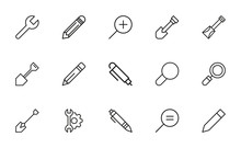 Set Of Tools Related Vector Li...