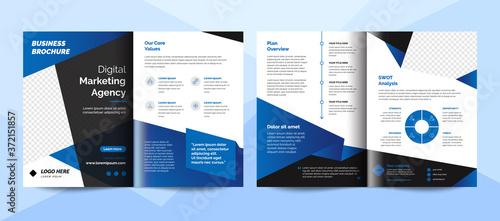 Fototapeta Creative corporate business brochure template. Corporate business flyer template. obraz