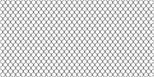 Black Wire Mesh Isolated On Wh...