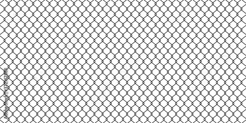 black wire mesh isolated on white background, barrier net, wire net metal wall, Fototapet