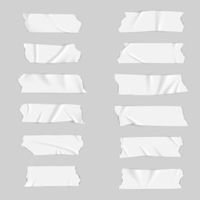 Realistic Adhesive Tape Collection Sticky Scotch Tape Of Different Sizes