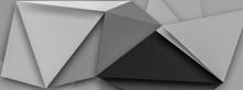 Black And White Geometric Low ...