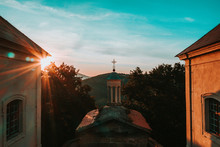 Calvary Is 398 M Above Sea Level A High Hill And A Place Of Pilgrimage In The District Of Litomerice In The Usti Nad Labem Region. It Lies About 0.7 Km To The South-east From The Village Of Ostre.