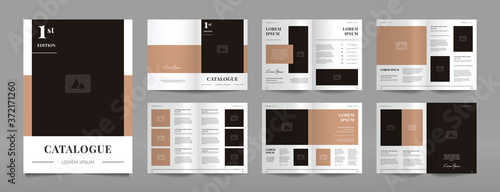 Obraz modern a4 product catalog design template - fototapety do salonu