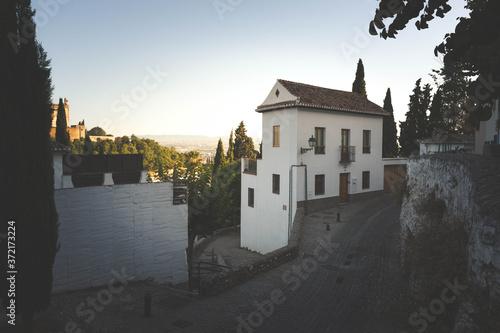 Fotografía Streets from Albaicin neighborhood at Granada, Andalusia, Spain.