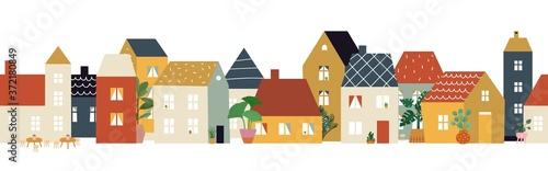 European city street pattern Fototapet