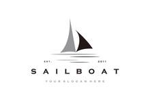 Creative Sailboat Logo Design Vector