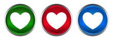 Heart Icon Supreme Round Butto...