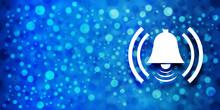 Alarm Icon Special Glossy Bokeh Blue Banner Background Glitter Shine Illustration