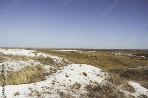 Fototapety, obrazy: Chalk mountains. Sol-Iletsk, Russia. Travel across Russia.