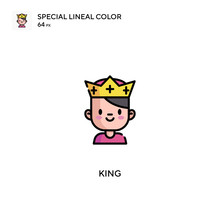 King Special Lineal Color Icon...
