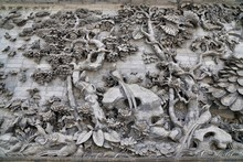 """Sculptural Composition Of Stone """"Dawn Of Charm"""", Pano Wall. Baomo Park, Guangzhou, China"""