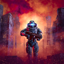 Cyberpunk Soldier City Warfare...
