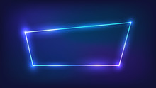 Neon Trapezoid Frame With Shining Effects