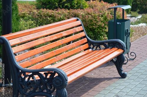 Carta da parati bench in the park