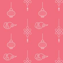 Asian Seamless Patterns. Brigh...