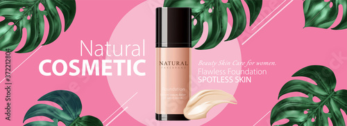 Ad banner for beauty product Fototapete