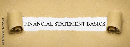 Financial Statement Basics Fototapete