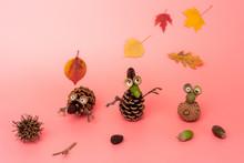 Pine Cone Craft For Kids, DIY, Autumn Creative Ideas For Preschooler