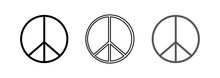 Set Of Peace Signs. Peace Icon. Vector Illustration