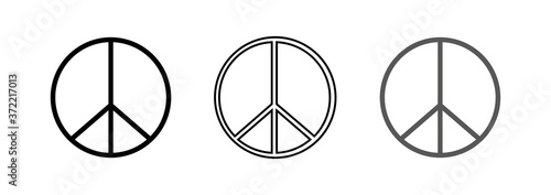 Canvastavla Set of peace signs. Peace icon. Vector illustration