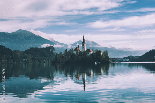 Fotografiet Lake Bled, Slovenia
