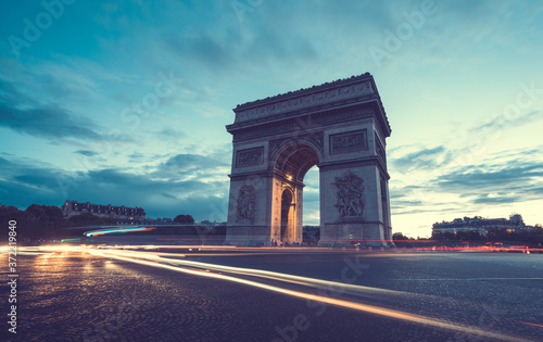 Photo Arc de Triumph at evening, Paris, France
