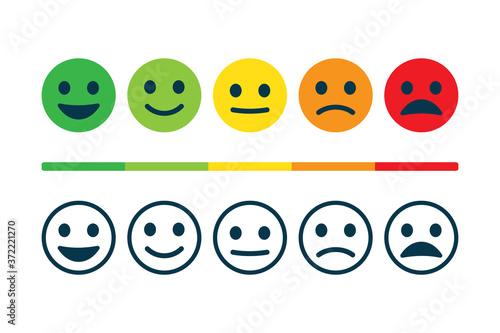 Obraz na plátně Rating satisfaction. Feedback in form of emotions.
