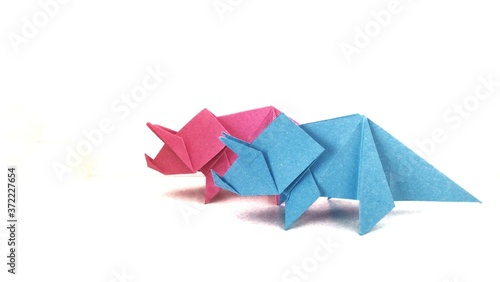 Fototapeta Paper origami animal