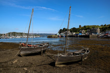Old Wooden Small Boats At Tarbert Harbour Scotland