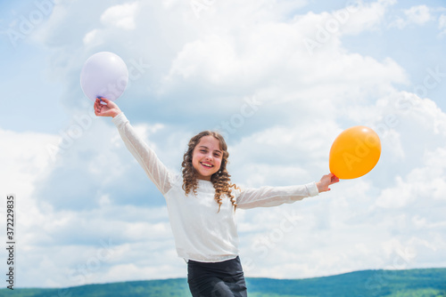 Fly with helium balloons Wallpaper Mural